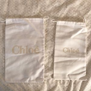 Chloe dust bags set of 2